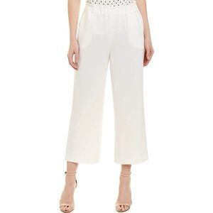 Tahari Linen Cropped Pull-On Pants